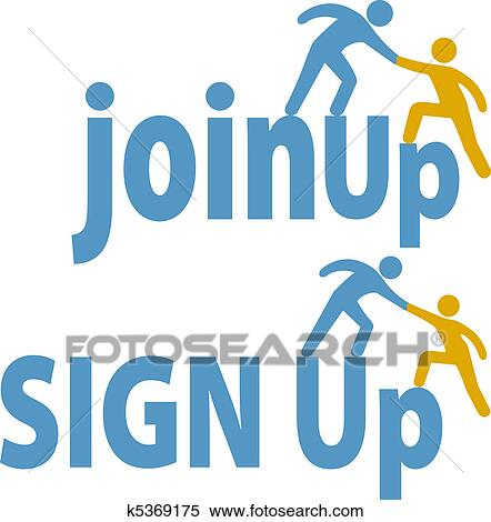 clipart of member helps people sign up join group icon k5369175 rh fotosearch com sign up sheet clipart sign up now clipart
