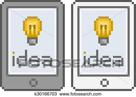 Pixel Art Tablette Idée Clipart