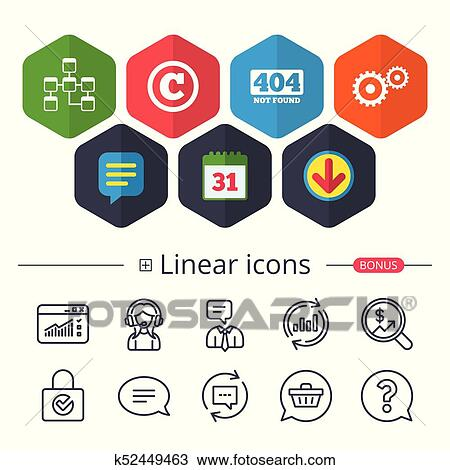 Website database icon  Copyrights and repair  Clipart