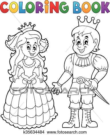Ausmalbilder Prinzessin Und Prinz Clipart