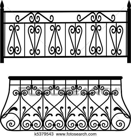 Clipart Balkon Gelander K5379543 Suche Clip Art Illustration