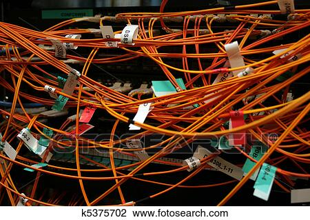 Tremendous Stock Photo Of Fibre Optic Cables In A Mess K5375702 Search Stock Wiring 101 Israstreekradiomeanderfmnl