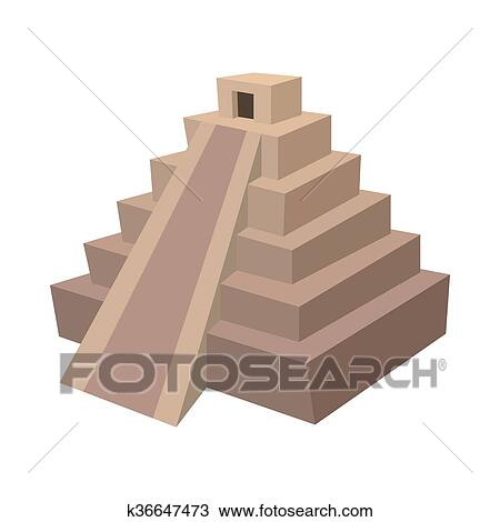 Dessin maya pyramide mexique ic ne dessin anim - Dessin de pyramide ...