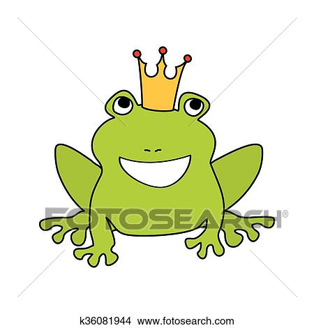 Grenouille Couronne clipart - prince, ou, princesse, grenouille, à, couronne k36081944