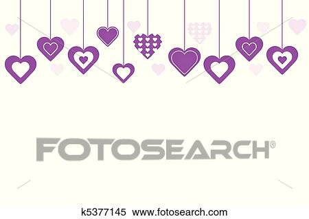 Clipart of purple hearts background k5377145 search clip art clipart purple hearts background fotosearch search clip art illustration murals drawings voltagebd Images