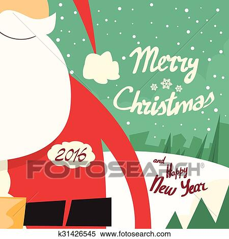 clipart santa beard merry christmas happy new year fotosearch search clip art