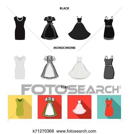 Vetorial Desenho De Vestido E Roupas Símbolo