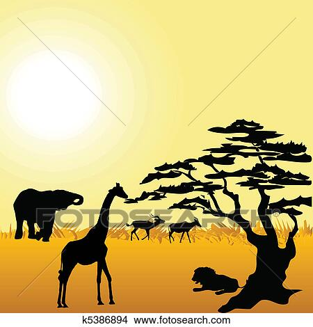 clipart of african wildlife k5386894 search clip art illustration rh fotosearch com wildfire clip art wildfire clip art
