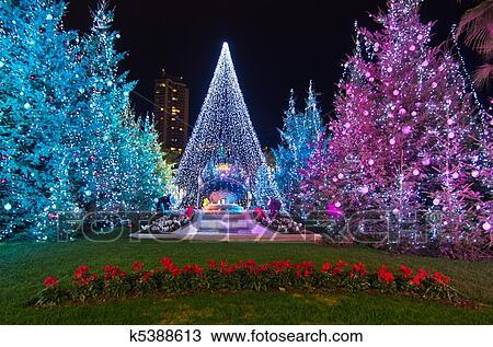 Stock Photo of Christmas decorations in Monaco, Montecarlo,France ...