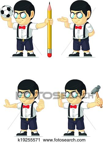 A Nerdy Boy Dancing Gangnam Style – Clipart Cartoons By VectorToons