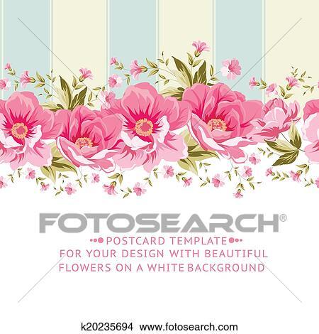 Clipart of ornate pink flower border with tile k20235694 search ornate pink flower border with tile elegant vintage card design vector illustration mightylinksfo