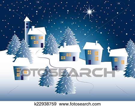 クリスマス 風景 イラスト K22938759 Fotosearch