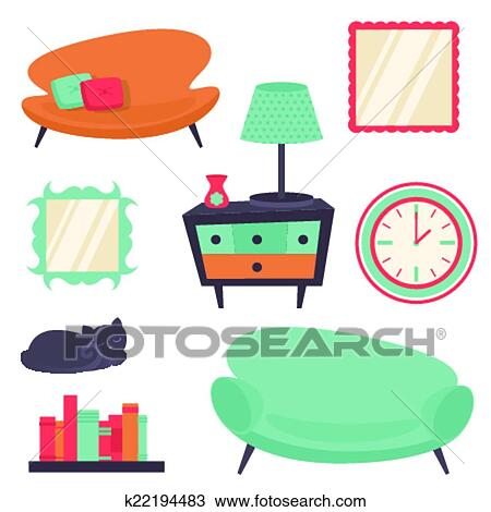 clipart of interior design elements k22194483 search clip art rh fotosearch com interior design clip art images interior design clip art images furniture