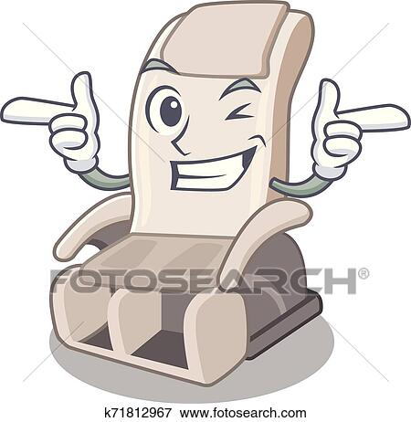 Wink massage chair in the mascot shape Clip Art ...