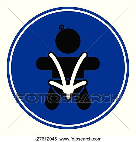 Clipart Of Baby Safety Seat Belt K27612045
