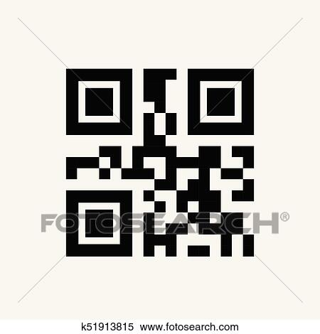 Sample Qr Code For Smartphone Scanning Icon Clipart