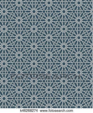 Seamless Islamic Moroccan Pattern Arabic Geometric Ornament