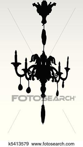 シャンデリア イラスト クリップアート K5413579 Fotosearch