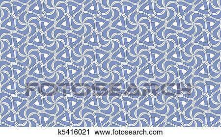 Beau Bleu Blanc Seamless Carrelage Texture Clipart