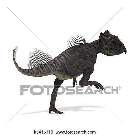 çizim Dinozor Archaeoceratops 3d ödeme Ile Clipping Patikası