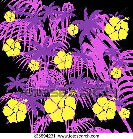 Clipart Of Summer Hawaiian Pattern Background40 K340894231 Search Magnificent Hawaiian Pattern