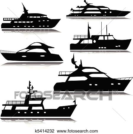clipart of yachts vector silhouettes k5414232 search
