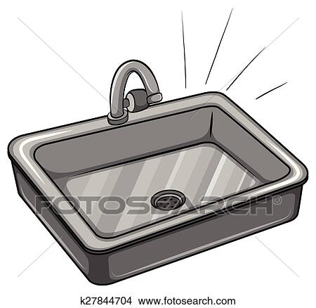 Clipart of A kitchen sink k27844704 - Search Clip Art, Illustration ...
