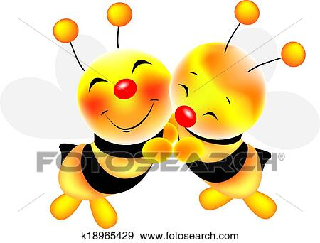 clip art of hug of bees stock illustration k18965429 search