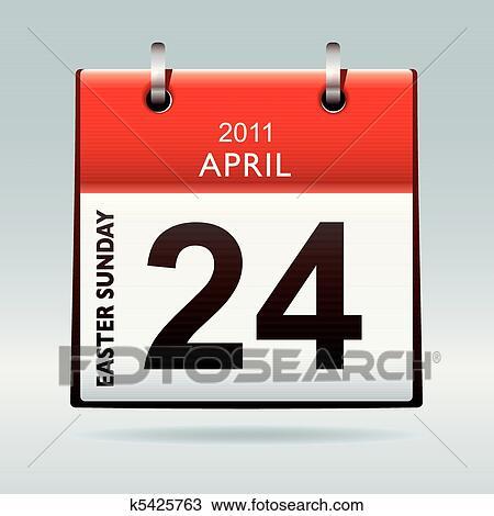 Calendario Icona.Pasqua Domenica Calendario Icona Clipart