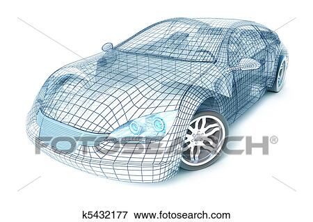 Stock Illustration - auto, design, draht, modell k5432177 - Suche ...