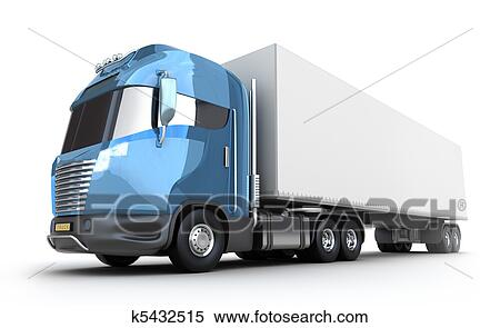 Stock Illustration - modernes, lastwagen, mit ...