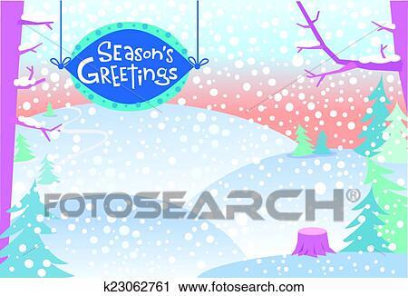 Clipart Schnee Winterlandschaft K23062761 Suche Clip Art