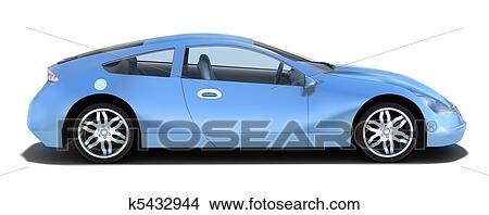 Drawings Of Sport Car Left Side View K5432944 Search Clip Art