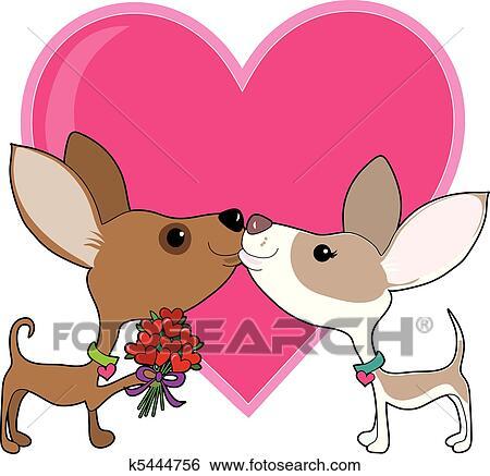 Clipart chihuahua amour k5444756 recherchez des - Clipart amour ...