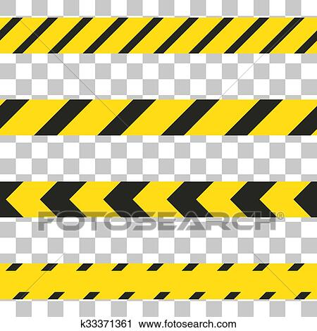 clipart of do not cross the line caution tape k33371361 search rh fotosearch com yellow caution tape clipart Crime Scene Tape Clip Art