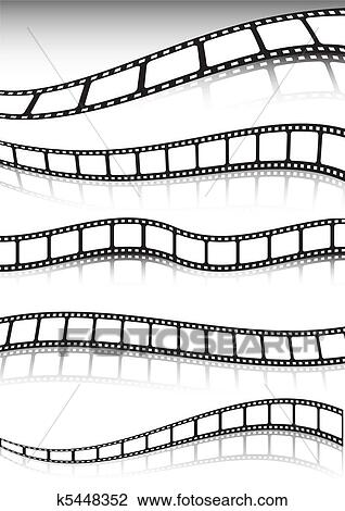 Clipart Of Film Strip Vector Background Collec K5448352 Search