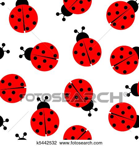 Clipart of ladybug seamless pattern k5442532 search clip art ladybug seamless pattern abstract texture vector art illustration stopboris Image collections