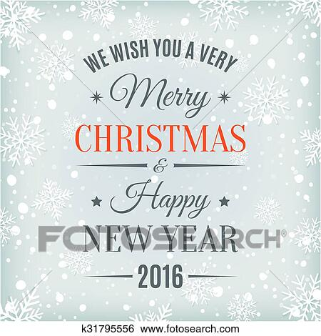 clip art merry christmas and happy new year text label fotosearch search