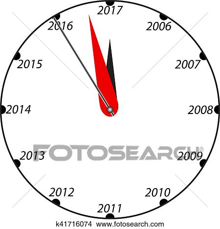 clipart new year black and white clock fotosearch search clip art