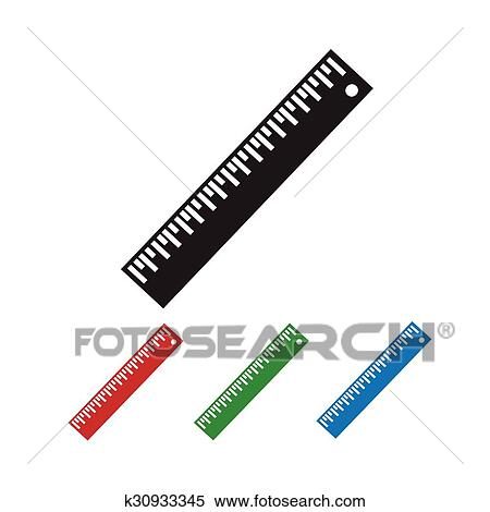 ruler icon clipart k30933345 fotosearch fotosearch