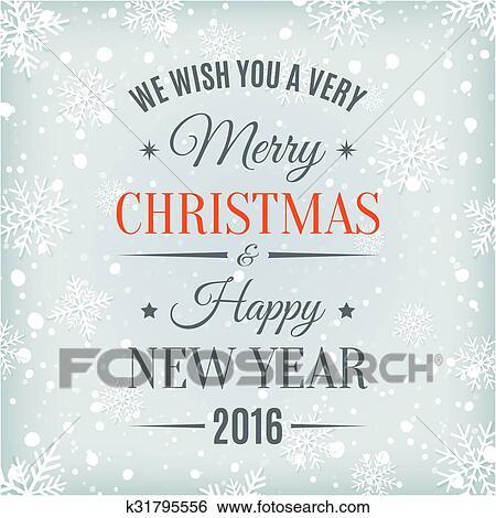 Zalige Kerst En Gelukkig Nieuwjaar Tekst Label Clipart
