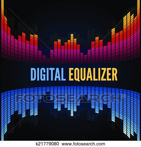 Abstract music equalizer  Clipart