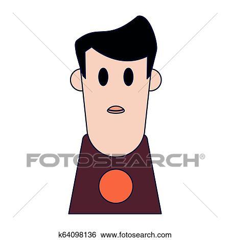 Boy Cartoon Profile Clip Art K64098136 Fotosearch