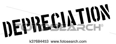 Clipart Of Depreciation Black Rubber Stamp On White K37684453