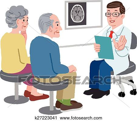 Doctor talking with his patient and the family Clipart ...