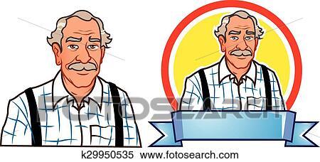 Grand p re dessin anim clipart k29950535 fotosearch - Dessin grand pere ...
