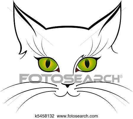 Clip Art Of Image Of Cat Eyes K5458132 Search Clipart