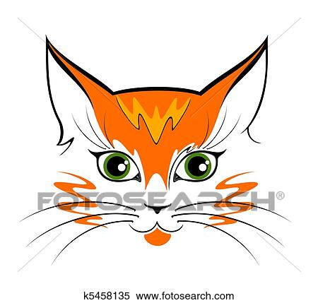 Stock Illustration Of Image Of Cat Eyes K5458135 Search Clipart