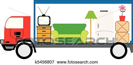 clip art of moving truck k5456807 search clipart illustration rh fotosearch com moving truck clip art free moving truck clipart free