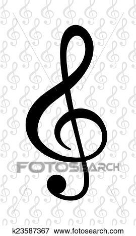 Clip Art Of Music Note K23587367